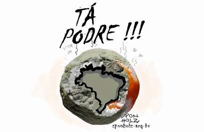 Resultado de imagem para imagem para o brasil podre